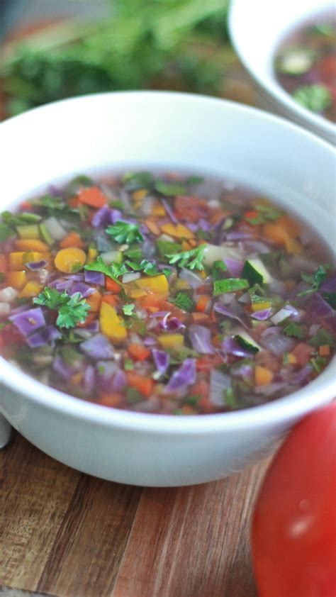 Detox With Vegetables by Rainbow Detox Vegetable Soup Divas Can Cook