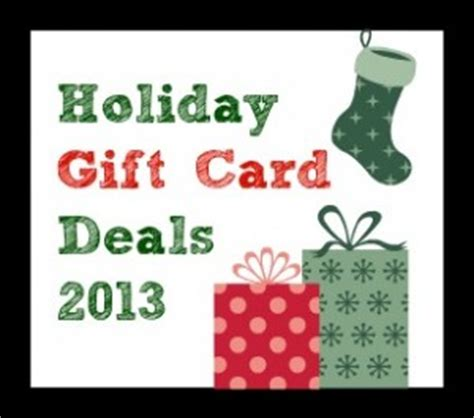Holiday Gift Card Deals - holiday gift card deals promotions 2013 southern savers