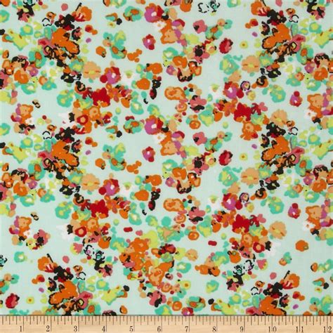 ity knit ity jersey knit floral mint orange discount designer