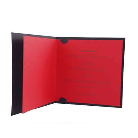 Hochzeitseinladungen Schwarz by Hochzeitseinladung Quot Quot Modernes Design In Schwarz Rot