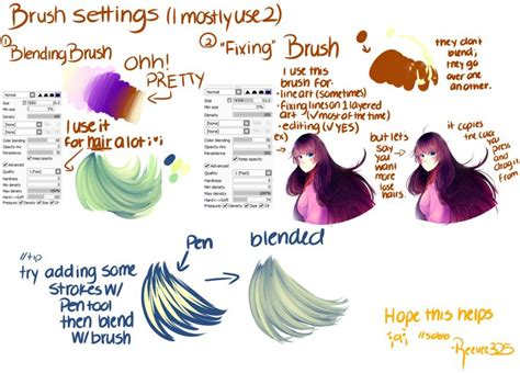 tutorial fanart paint tool sai 50 best pts brushes images on drawing