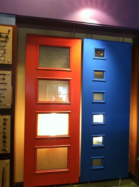 colorful door colorful therma tru pulse doors complement various home