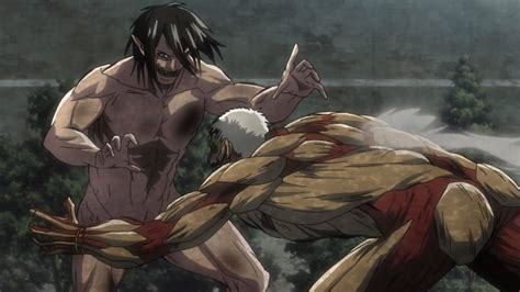 Eren Titan & Mikasa vs Armored Titan - Attack on Titan ... Attack On Titan Eren Titan Vs Armored Titan