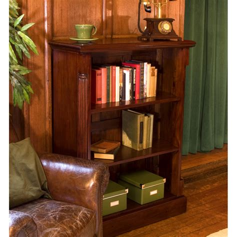 Low Living Room Furniture La Roque Low Living Room Office Bookcase Solid Mahogany Furniture