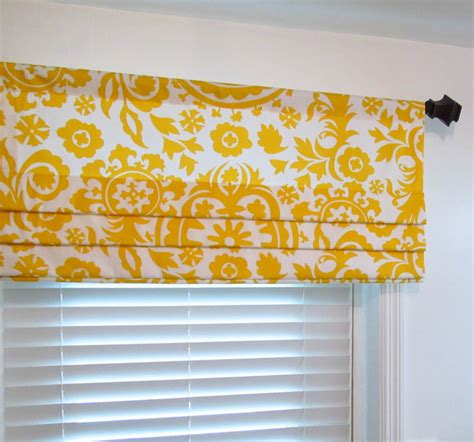 yellow pattern roman shade faux roman shade mock roman valance suzani yellow custom