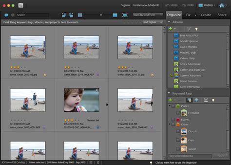 adobe photoshop organizer tutorial image gallery mac photoshop elements