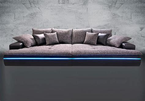 big couch media big sofa contempo megasofa loungesofa in schwarz silber