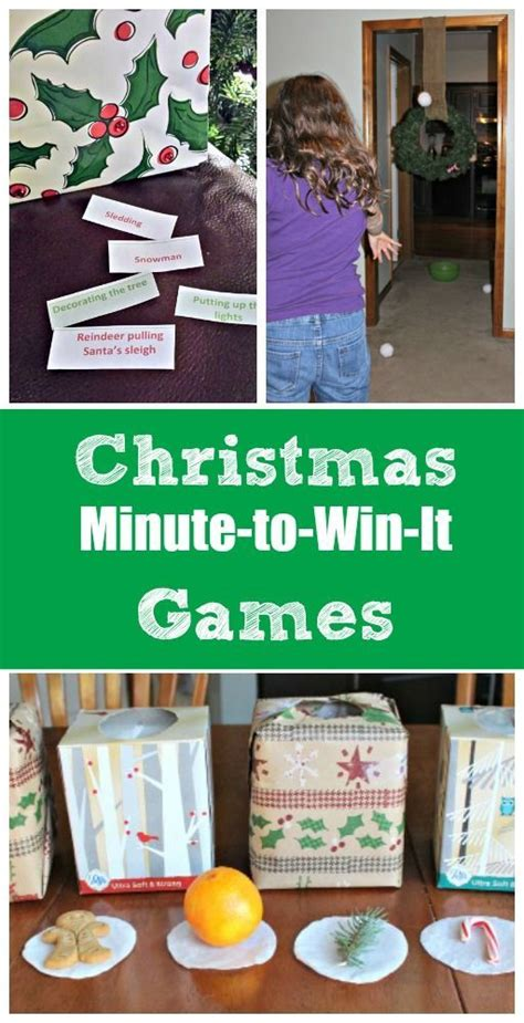 12 christmas minute to win it games snowball holiday