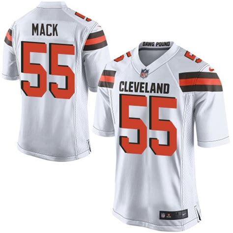 alex mack jersey nfl cleveland browns game white road nike jersey 55 alex mack
