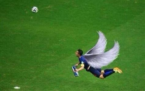 Van Persie Meme - total pro sports internet photoshops flying robin van