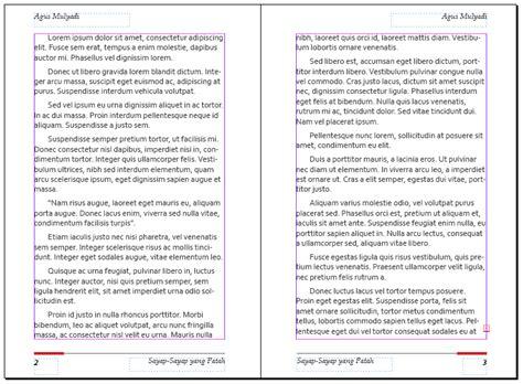 cara membuat tema novel cara membuat layout buku sederhana dengan indesign
