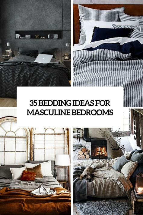 masculine bedding ideas 35 awesome bedding ideas for masculine bedrooms digsdigs