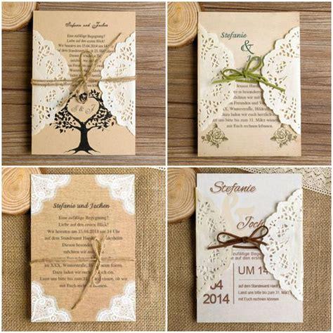 Hochzeitseinladung Ideen by Diy Ideen F 252 R Rustikale Hochzeit Einladungskarten