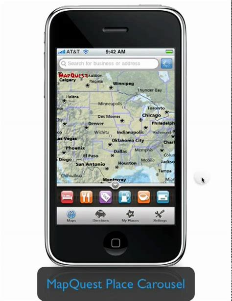 mobile mapquest mapquest 4 mobile iphone application