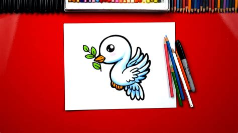 draw  dove  olive branch art  kids hub