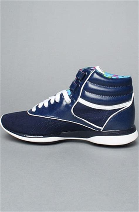 reebok freestyle sneaker reebok the easytone freestyle hi sneaker in blue in blue