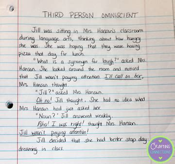 writing a paper in 3rd person elementary snapshots teaching points of view