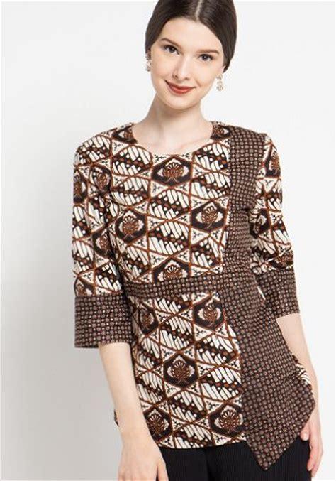 Atasan Wl 1 23 model baju batik atasan wanita terbaru desain spesial model baju batik kantor