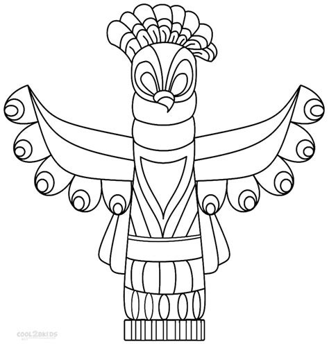totem pole design template totem pole coloring page az coloring pages
