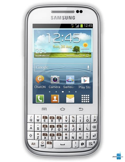 Hp Samsung Android Qwerty samsung galaxy chat specs