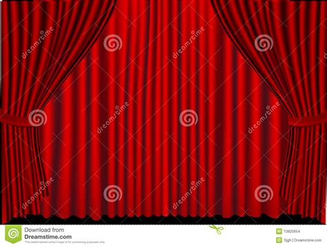 curtain closed red curtains closed stock images image 13825654