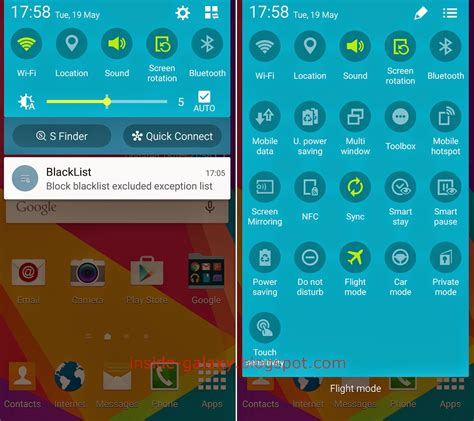 layout mirroring android samsung galaxy s5 how to use quick settings panel in