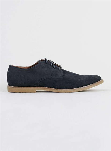 navy faux suede desert shoes topman