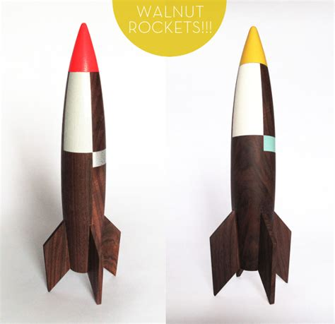 handmade wooden rockets by pat pic