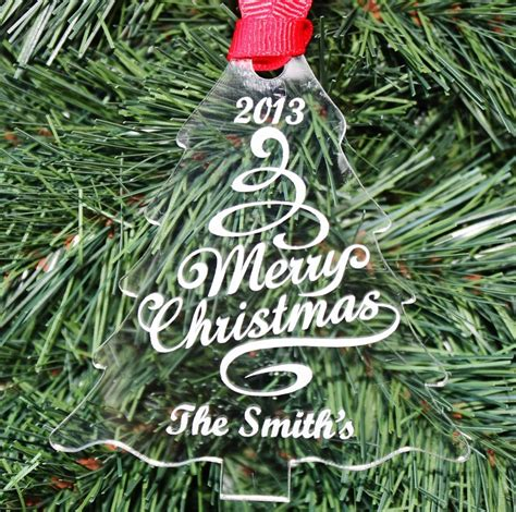 our christmas tree personalized ornament