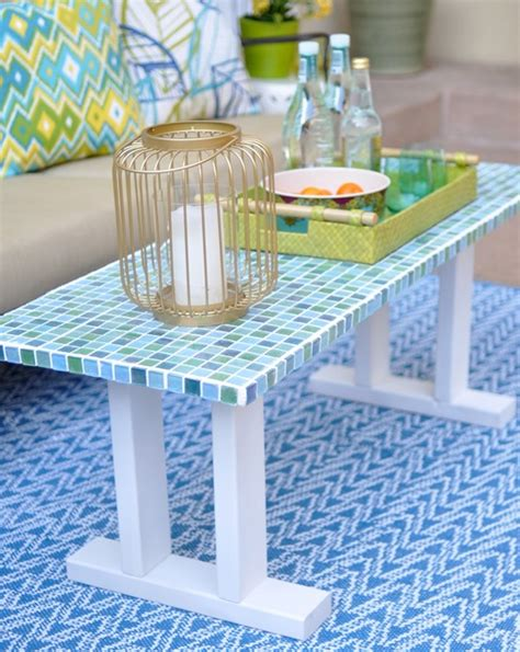 Tile Outdoor Table by Diy Tile Outdoor Table Centsational