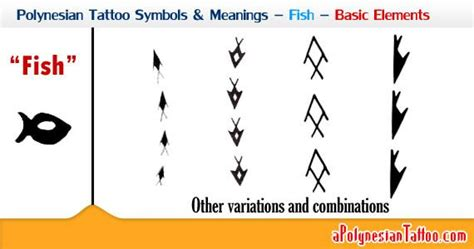 polynesian tattoo symbols polynesian symbols meanings fish basic