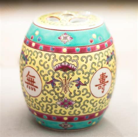 vaso cinese prezzi vaso cinese antico della spezia fotografia stock