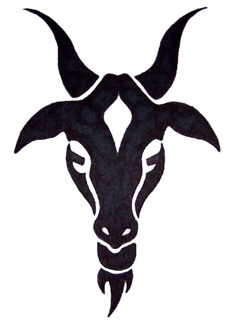 goat tattoo designs classic black ink goat design