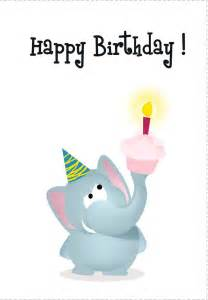 elephant birthday cards birthday card free elephant printable birthday cards