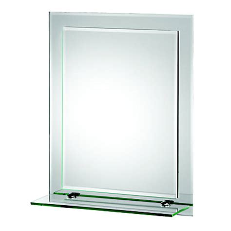 homebase bathroom mirrors frosted edge rectangular mirror with glass shelf