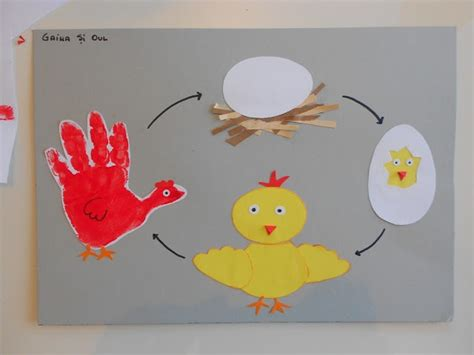 chicken crafts for chicken cycle craft for themes we