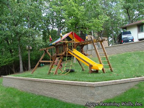 retaining wall to level backyard 1000 images about kids playsets on pinterest