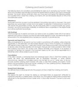 Event Terms And Conditions Template by 6 Catering Contract Templates Free Word Pdf Documents