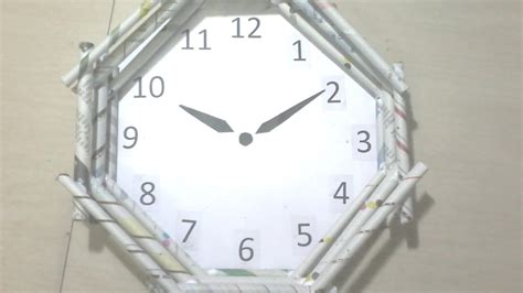 How To Make A Clock Out Of Paper - diy how to make wall clock using news paper rolls best
