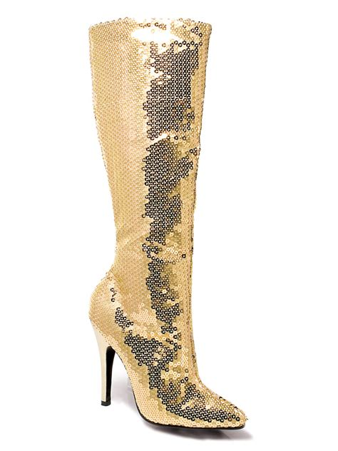 gold sequin shoes for gold sequin knee boots 511tingld fancy dress