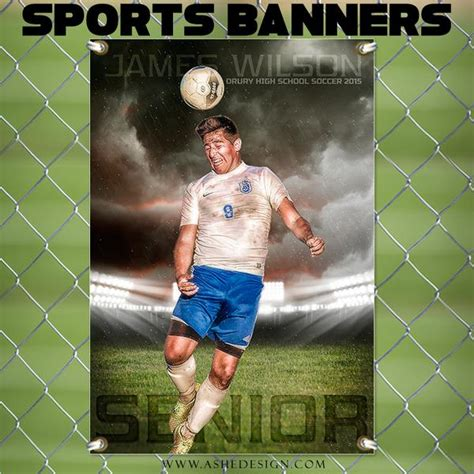 Amped Sports Banner 24x36 Stormy Arena Ashedesign Senior Sports Banners Templates