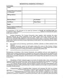 free contract forms template 5 roofing contract templates free pdf format