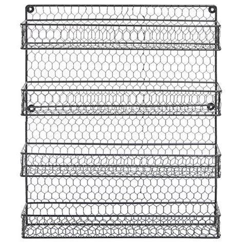 diy spice rack bunnings 4 tier country rustic chicken wire pantry cabinet or wall