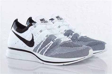 fly knits nike flyknit trainer black white hypebeast