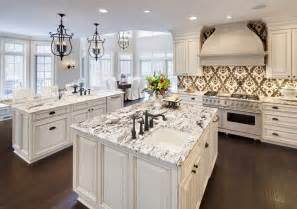white carrara granite kitchen traditional with marble