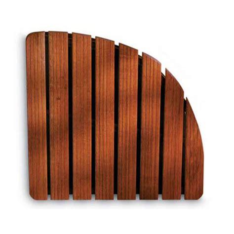 doccia in legno pedana doccia in legno 74x74xh5 cm forma angolare