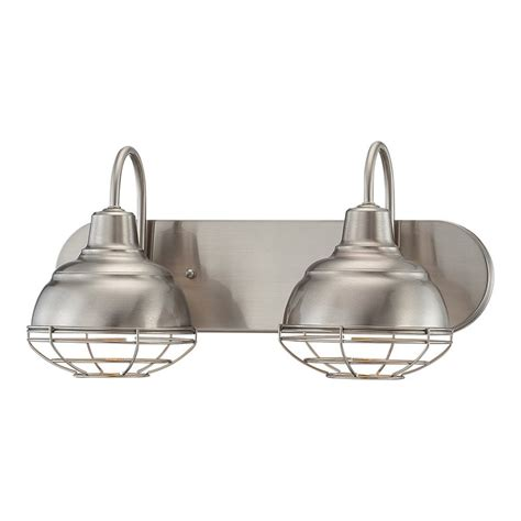 shop millennium lighting  light neo industrial satin nickel standard bathroom vanity light