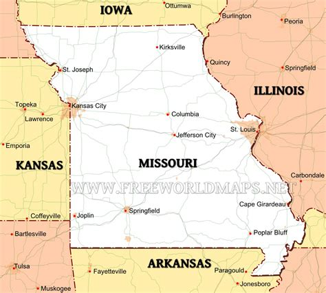 us map states missouri united states of america travel guide wikitravel 2017