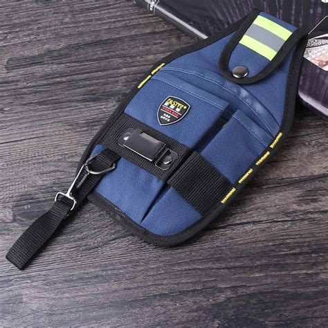 Multi Pockets Waist Tool Work Bag Utility Pouch Electricians Belt Bags 3 pockets electrician tool belt utility pouch work hip waist bag pack