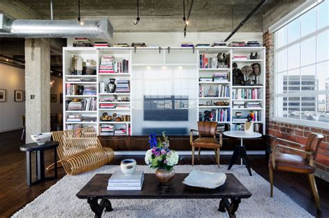 loft living room houston loft industrial living room houston by c o n t e n t architecture